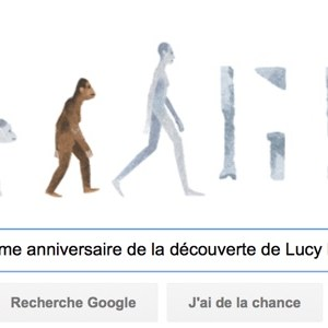 Google fête le 41ème anniversaire de la découverte de Lucy l'australopithèque [#Doodle]