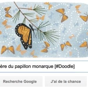 Google fête le 41e anniversaire de la découverte de la réserve de biosphère du papillon monarque [#Doodle]