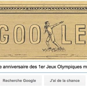 Google fête le 120ème anniversaire des 1er Jeux Olympiques modernes [#Doodle]