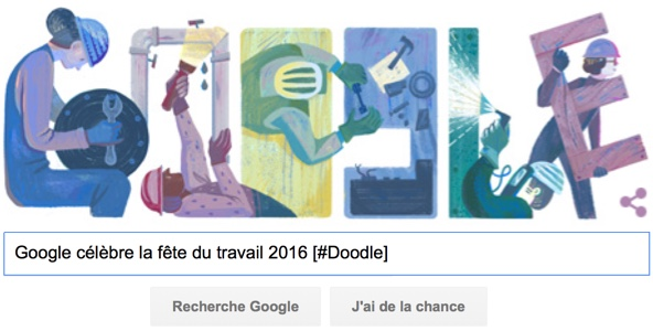 Google célèbre la fête du travail 2016 [#Doodle]
