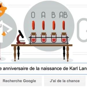 Google fête le 148e anniversaire de la naissance de Karl Landsteiner [#Doodle]