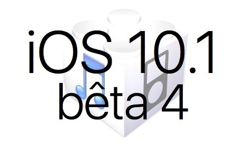 L'iOS 10.1 bêta 4 est disponible pour les développeurs et le public