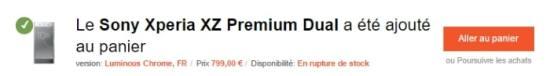 Sony Xperia XZ Premium : nous connaissons son prix et sa date de sortieen France [MAJ]