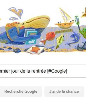 Google fête la premier jour de la rentrée [#Doodle]