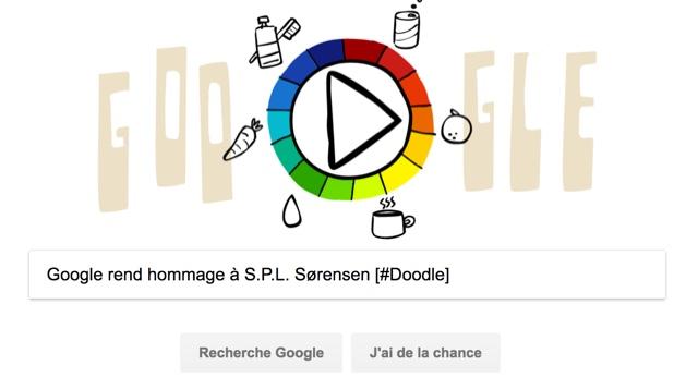 Google rend hommage à S.P.L. Sørensen [#Doodle]