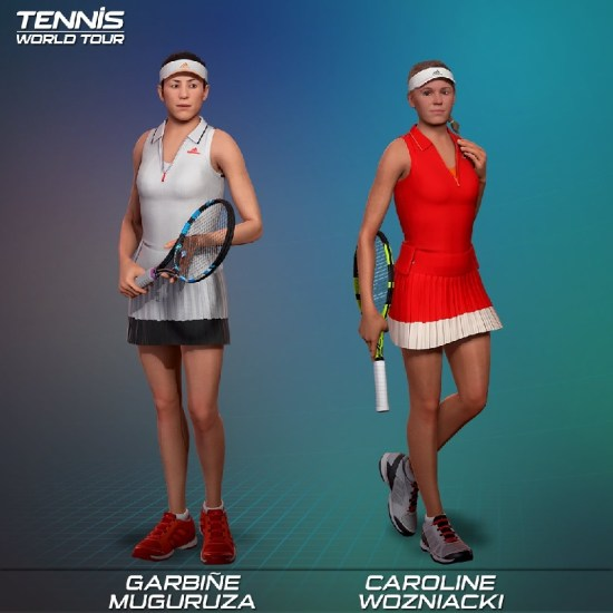 Tennis World Tour : découverte de la liste des 31 joueurs et joueuses disponibles [MAJ]