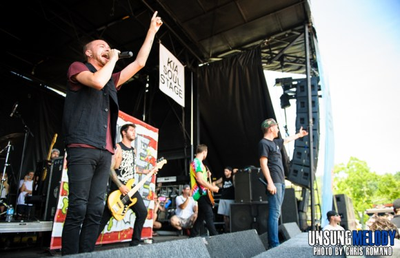 Woe, Is Me at the Vans Warped Tour in Holmdel, NJ