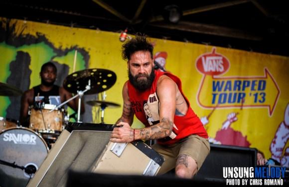 letlive. at the Vans Warped Tour in Holmdel, NJ