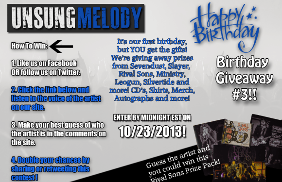 Unsung Melody's Birthday Giveaway #3!!