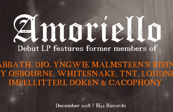 """AMORIELLO Release Lyric Video for Debut Single, """"Battle Song (feat. Vinny Appice),"""" Off of Upcoming, Self-Titled Album"""