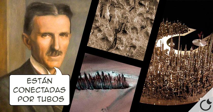 Resultado de imagen de Ciudades Subterráneas en Marte, según Tesla