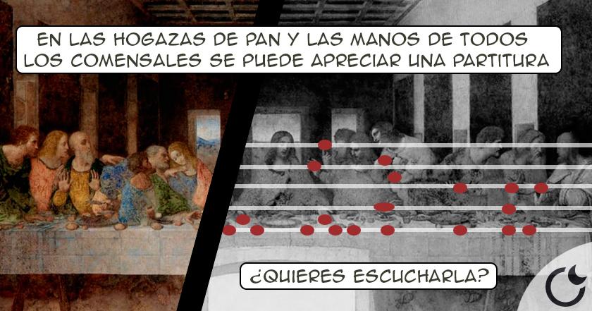 """Resultado de imagen de La MÚSICA ESCONDIDA de """"La Última Cena"""": Davinci TE ASOMBRARÁ DE NUEVO"""