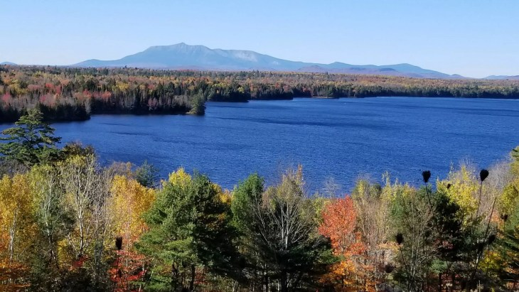 Mt Katahdin scenic lookout interstate 95.