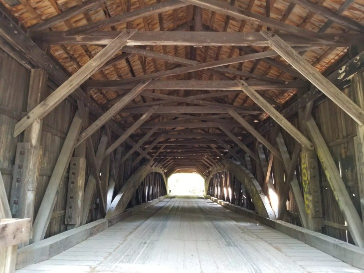Hemlock Covered Bridge in Fryeburg, Maine.