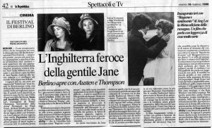 La Repubblica - 16 febbraio 1996