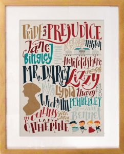 pride and prejudice - pemberley_pond_poster