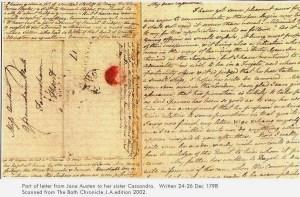Jane Austen, lettera dicembre 1798