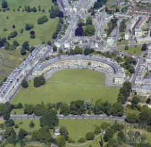 Bath - Il Crescent con i campi (Crescent Fields)