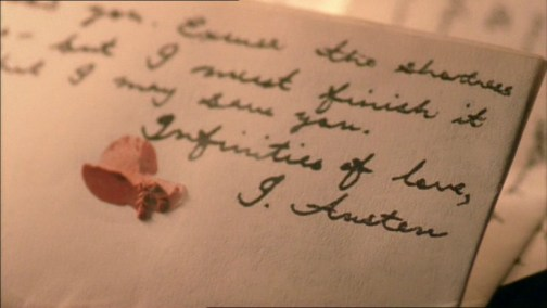 Miss Austen Regrets, infinities of love