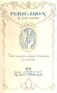 Persuasion, Jane Austen, C.E. Brock