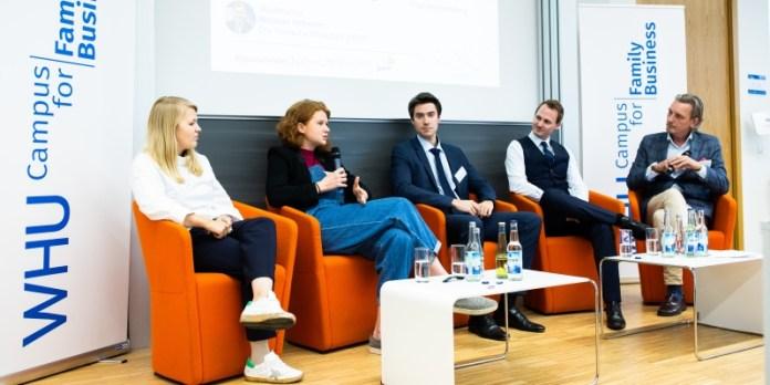 Jungunternehmer unter sich: Lena Schaumann, Verena Bahlsen, Maximilian Deharde und Rick von der Becke.