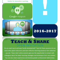 Teach & Share Faculty Development