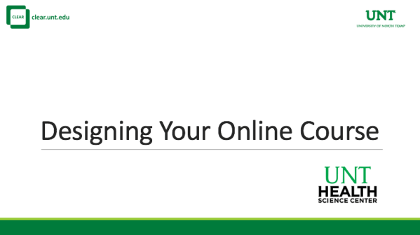 Designing Your Online Course