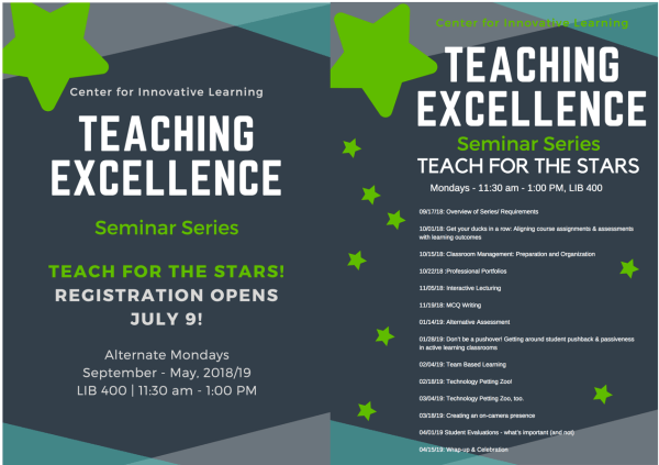 Teaching Excellence schedule