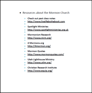 Mormon websites shown in video