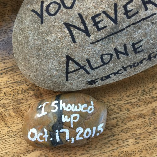 Surviving grief often means just showing up. Not to be perfect, not to accomplish anything other than to just show up.
