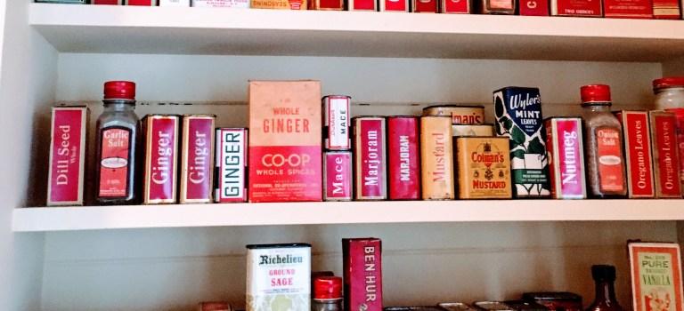 Spice cupboard at the J. Gilbert Smith House, Los Altos