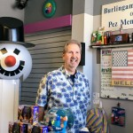 World's Largest PEZ Dispensing Machine with owner Gary Doss at the Burlingame Museum of Pez Memorabilia