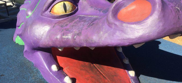 Dragon at the Magic Mountain playground, San Mateo.