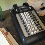 Adding machine at the J. Gilbert Smith House, Los Altos.