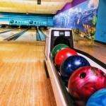 Bowling balls at Homestead Bowl, Cupertino.