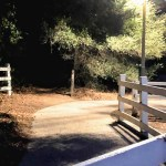 Entrance to the McClellan Creek Trail in Cupertino, CA.