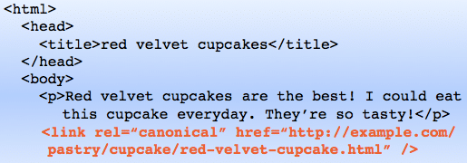 Example of a Canonical Redirect Tag