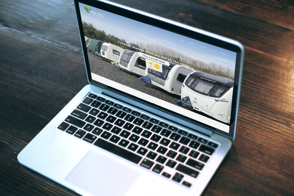 Cheshire Web Design - Yew Tree Caravan Storage