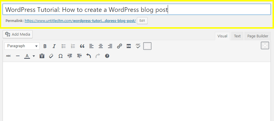 WordPress Tutorial: Add Title