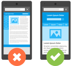 responsive and non responsive website example