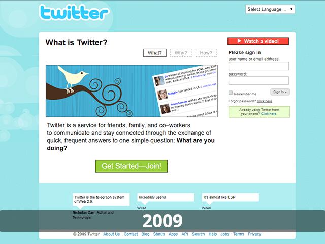 Twitter Website 2009