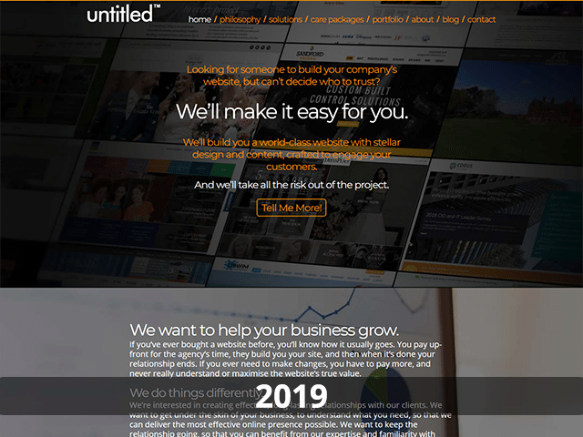 untitled™ website 2019