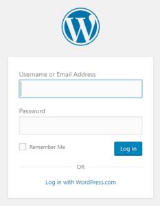 WordPress Tutorial - Logging into the dashboard