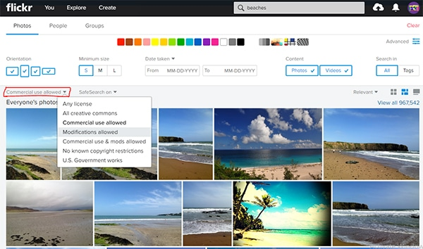 Free Flickr Image Search