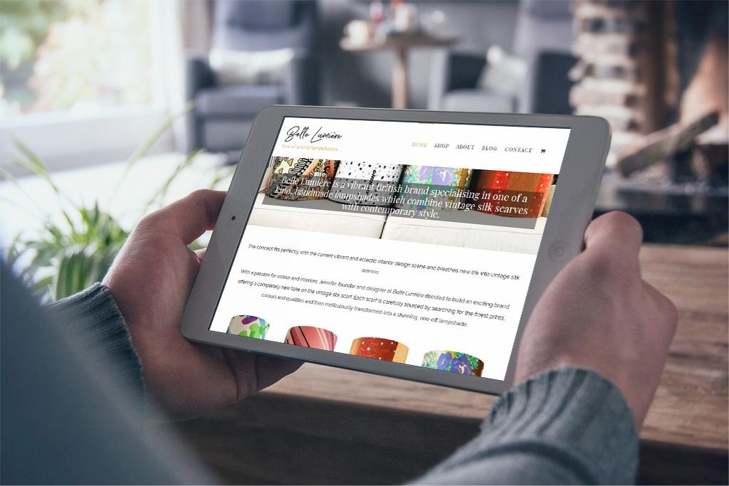 E-Commerce Website Belle Lumière.