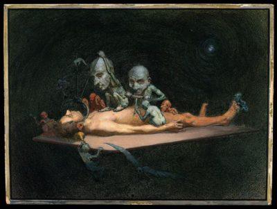 An unconscious naked man (1912), Richard Tennant Cooper
