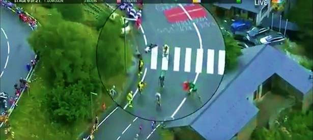 George Bennet KO's spectator at the Tour De France