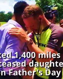 Dad hears daughter's heartbeat after her death