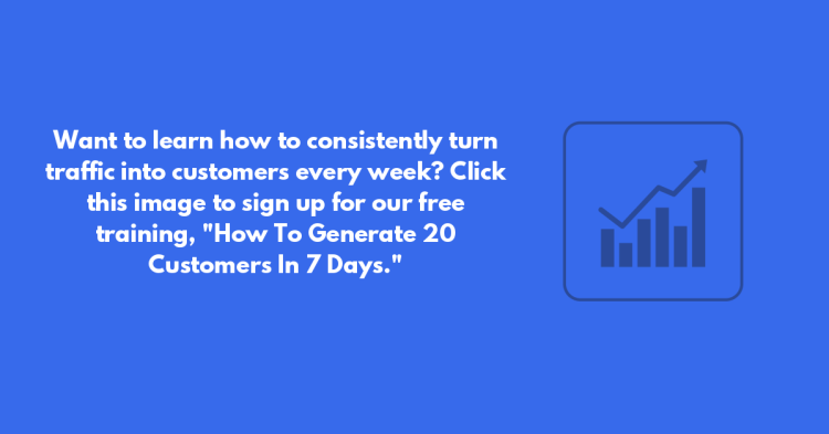 call to action - how to generate 20 customers in 7 days