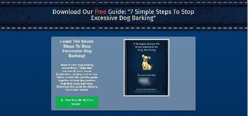 dog landing page